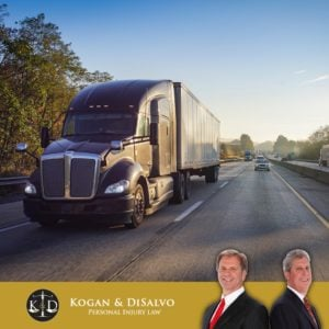 Trucks driving down a highway in Florida with attorney