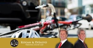bicycle hit by car on road with personal injury attorneys