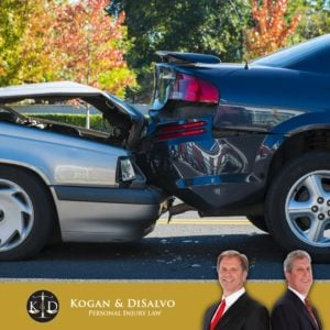 two cars in a fender bender in boca raton florida with attorneys Kogan and DiSalvo