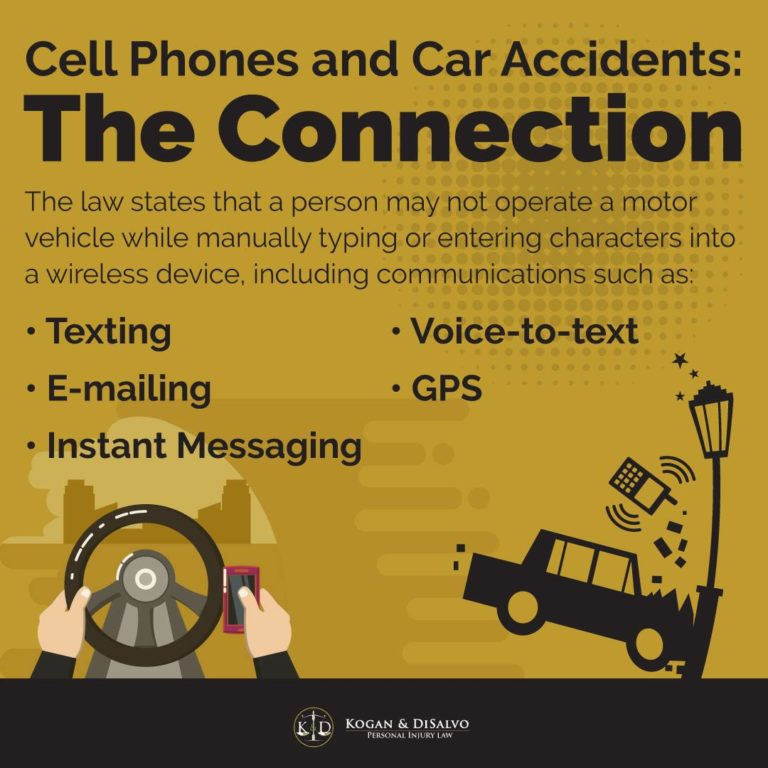 cell phone and car accident infographic driving while texting car accident
