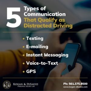 5 types of communication that qualify as distracted driving