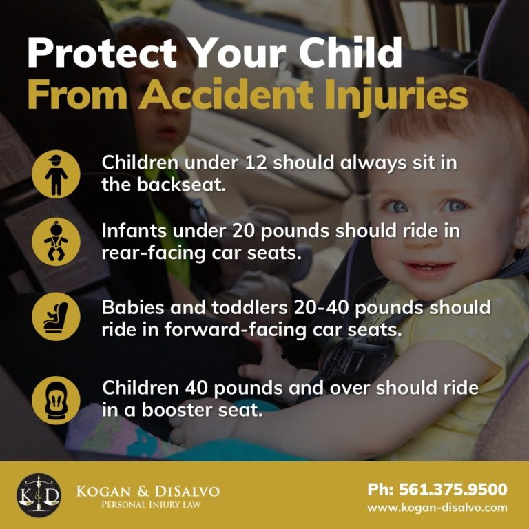 protect your child from car accident injuries baby in car seat