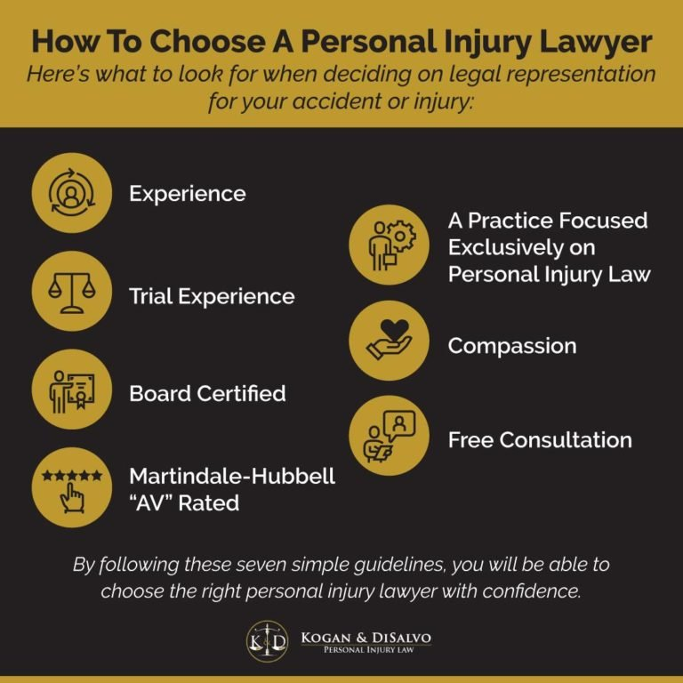guidelines to choose personal injury attorney