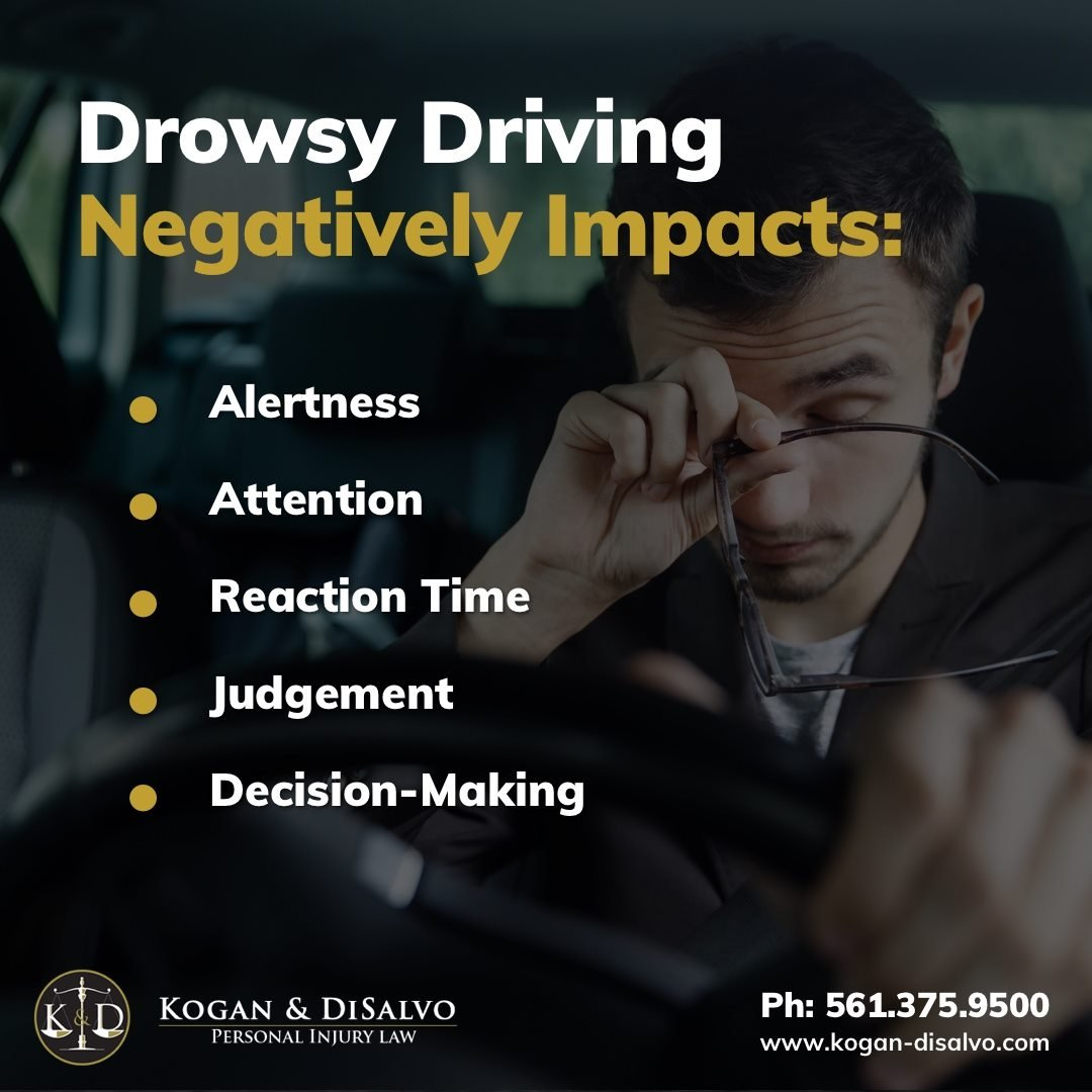 how drowsey driving affects person driving a car