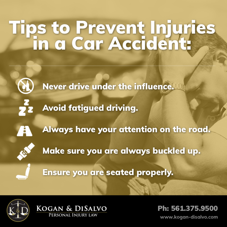 tips to prevent injuries in car accident inforgraphic