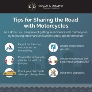 motorcycle accident infographic sharing the road