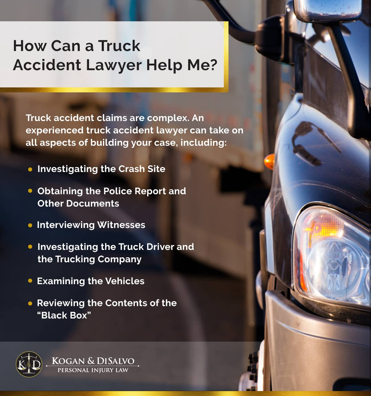 How Can a Truck Accident Lawyer Help Me?