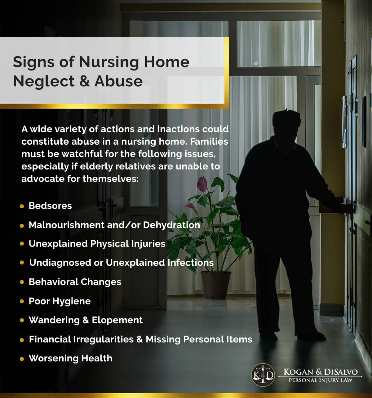 Signs of Nursing Home Neglect and Abuse | Kogan and DiSalvo